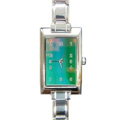 Shadow Faintly Faint Line Green Rectangle Italian Charm Watch by Mariart