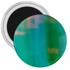 Shadow Faintly Faint Line Green 3  Magnets by Mariart