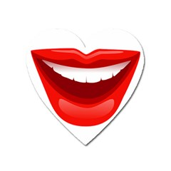 Smile Lips Transparent Red Sexy Heart Magnet by Mariart
