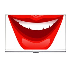 Smile Lips Transparent Red Sexy Business Card Holders by Mariart