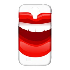 Smile Lips Transparent Red Sexy Samsung Galaxy S4 Classic Hardshell Case (pc+silicone) by Mariart