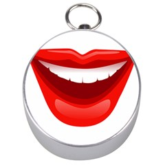 Smile Lips Transparent Red Sexy Silver Compasses by Mariart