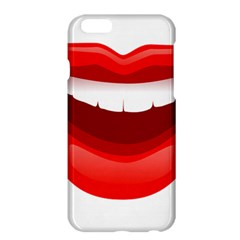 Smile Lips Transparent Red Sexy Apple Iphone 6 Plus/6s Plus Hardshell Case by Mariart