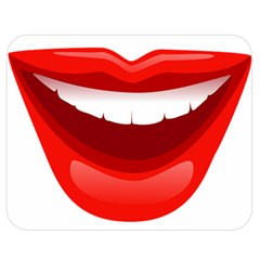 Smile Lips Transparent Red Sexy Double Sided Flano Blanket (medium)  by Mariart
