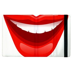 Smile Lips Transparent Red Sexy Apple Ipad Pro 12 9   Flip Case