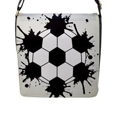 Soccer Camp Splat Ball Sport Flap Messenger Bag (l)  by Mariart
