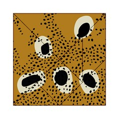 Surface Patterns Spot Polka Dots Black Acrylic Tangram Puzzle (6  X 6 ) by Mariart