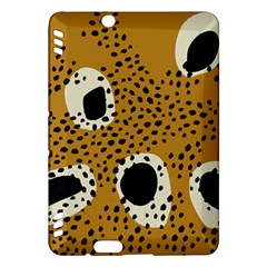 Surface Patterns Spot Polka Dots Black Kindle Fire Hdx Hardshell Case by Mariart