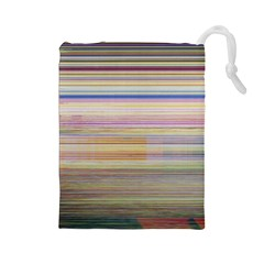 Shadow Faintly Faint Line Included Static Streaks And Blotches Color Drawstring Pouches (large)  by Mariart