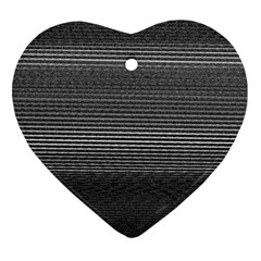 Shadow Faintly Faint Line Included Static Streaks And Blotches Color Gray Heart Ornament (two Sides) by Mariart