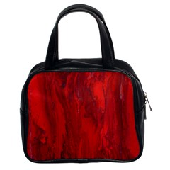 Stone Red Volcano Classic Handbags (2 Sides) by Mariart