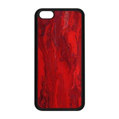 Stone Red Volcano Apple Iphone 5c Seamless Case (black) by Mariart