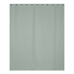 Ash Gray Solid Color  Shower Curtain 60  X 72  (medium)  by SimplyColor