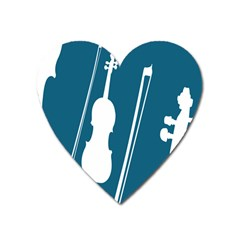 Violin Music Blue Heart Magnet by Mariart