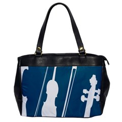 Violin Music Blue Office Handbags by Mariart