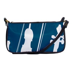 Violin Music Blue Shoulder Clutch Bags by Mariart