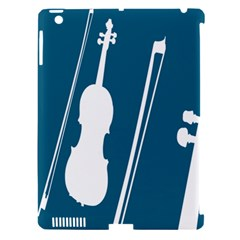 Violin Music Blue Apple Ipad 3/4 Hardshell Case (compatible With Smart Cover) by Mariart