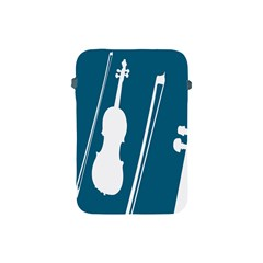Violin Music Blue Apple Ipad Mini Protective Soft Cases by Mariart