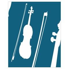 Violin Music Blue Drawstring Bag (small) by Mariart