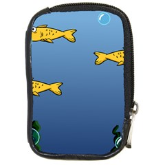 Water Bubbles Fish Seaworld Blue Compact Camera Cases by Mariart