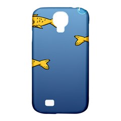 Water Bubbles Fish Seaworld Blue Samsung Galaxy S4 Classic Hardshell Case (pc+silicone) by Mariart