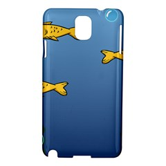 Water Bubbles Fish Seaworld Blue Samsung Galaxy Note 3 N9005 Hardshell Case by Mariart