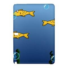 Water Bubbles Fish Seaworld Blue Samsung Galaxy Tab Pro 12 2 Hardshell Case by Mariart