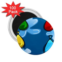 Water Balloon Blue Red Green Yellow Spot 2 25  Magnets (100 Pack)  by Mariart