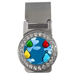 Water Balloon Blue Red Green Yellow Spot Money Clips (cz)  by Mariart