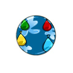 Water Balloon Blue Red Green Yellow Spot Hat Clip Ball Marker (4 Pack) by Mariart