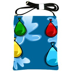 Water Balloon Blue Red Green Yellow Spot Shoulder Sling Bags by Mariart