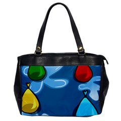 Water Balloon Blue Red Green Yellow Spot Office Handbags by Mariart