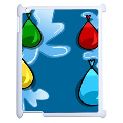 Water Balloon Blue Red Green Yellow Spot Apple Ipad 2 Case (white) by Mariart