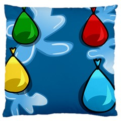 Water Balloon Blue Red Green Yellow Spot Large Cushion Case (two Sides) by Mariart