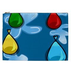 Water Balloon Blue Red Green Yellow Spot Cosmetic Bag (xxl)  by Mariart