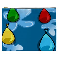 Water Balloon Blue Red Green Yellow Spot Cosmetic Bag (xxxl)  by Mariart