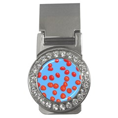 Tomatoes Fruite Slice Red Money Clips (cz)  by Mariart