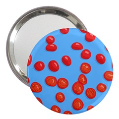 Tomatoes Fruite Slice Red 3  Handbag Mirrors by Mariart