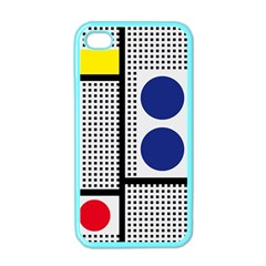 Watermark Circle Polka Dots Black Red Yellow Plaid Apple Iphone 4 Case (color) by Mariart