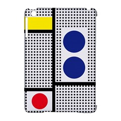 Watermark Circle Polka Dots Black Red Yellow Plaid Apple Ipad Mini Hardshell Case (compatible With Smart Cover) by Mariart