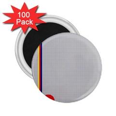 Watermark Circle Polka Dots Black Red 2 25  Magnets (100 Pack)  by Mariart
