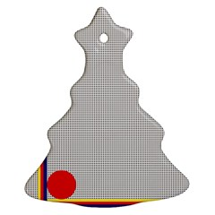 Watermark Circle Polka Dots Black Red Christmas Tree Ornament (two Sides) by Mariart