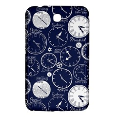 Time World Clocks Samsung Galaxy Tab 3 (7 ) P3200 Hardshell Case  by Mariart