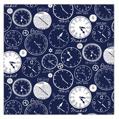 Time World Clocks Large Satin Scarf (square) by Mariart