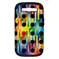 Watermark Circles Squares Polka Dots Rainbow Plaid Samsung Galaxy S Iii Hardshell Case (pc+silicone) by Mariart