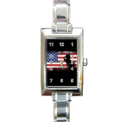 Honor Our Heroes On Memorial Day Rectangle Italian Charm Watch by Catifornia
