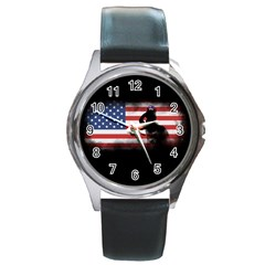 Honor Our Heroes On Memorial Day Round Metal Watch by Catifornia