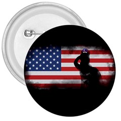 Honor Our Heroes On Memorial Day 3  Buttons by Catifornia