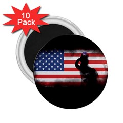 Honor Our Heroes On Memorial Day 2 25  Magnets (10 Pack)  by Catifornia