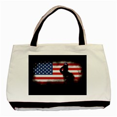 Honor Our Heroes On Memorial Day Basic Tote Bag (two Sides) by Catifornia